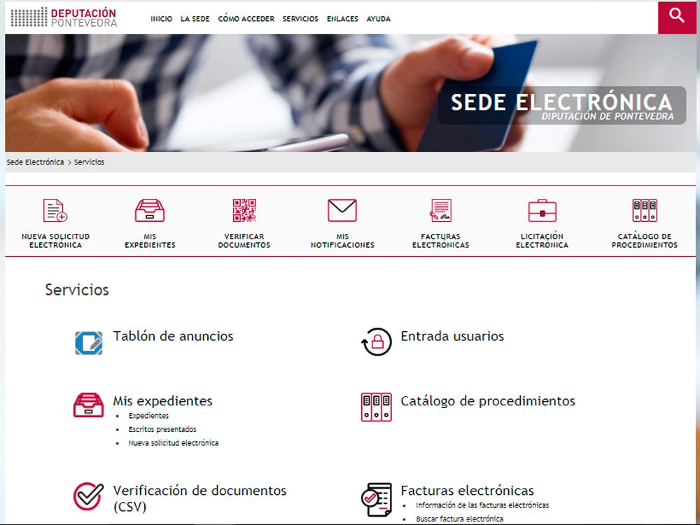 sede electrónica deputación pontevedra